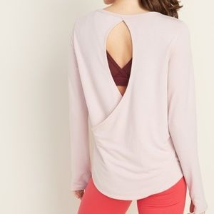 Old Navy Relaxed Cutout-Back French Terry Top